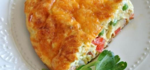Omlet z farszem warzywnym